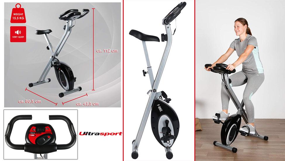 Ultrasport F-Bike Bicicleta estática de fitness